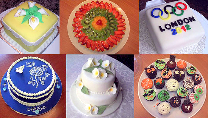 Images of MayLiza Baak's cakes, tarts and cupcakes