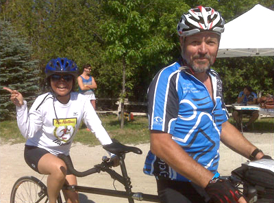 Jim Phillips and partner at Cycle for Sight 2012