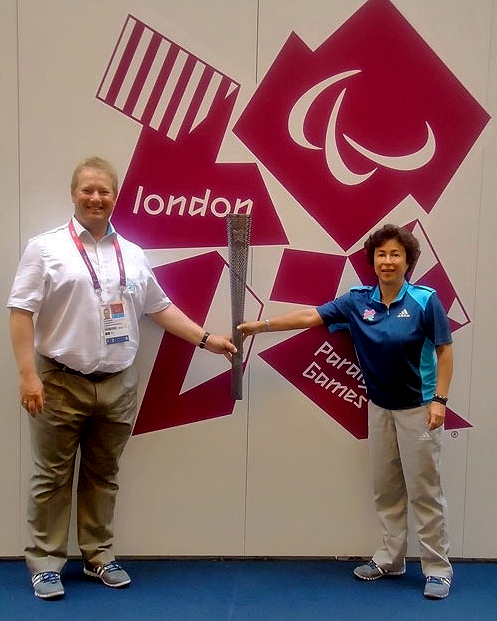 Paralympics official and Alison Diaz