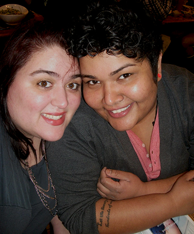 Kim Peterson (right) and her partner Flor